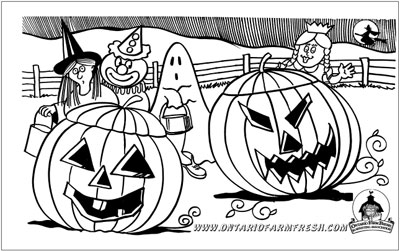 Download The Halloween Colouring Page