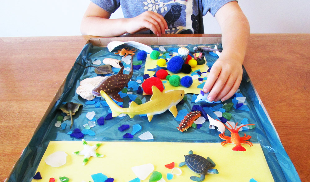 earth day fun animal habitat craft for kids