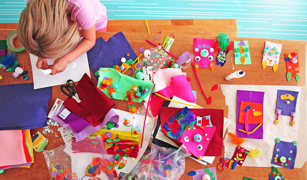 In praise of dollar store craft supplies for Art and craft shop