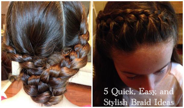 easy braids for school - photo #12