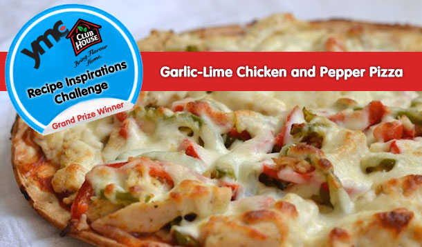 Tasty Garlic Lime Chicken And Pepper Pizza Recipe ...