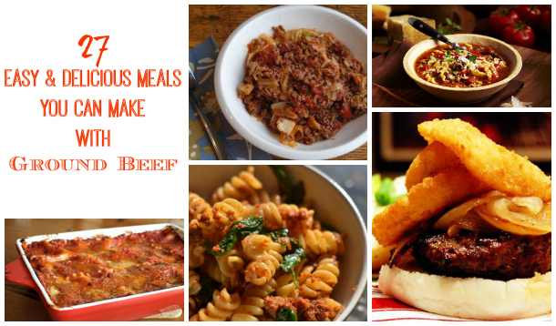 27 easy delicious meals you can make with ground beef for Things you can make with ground beef