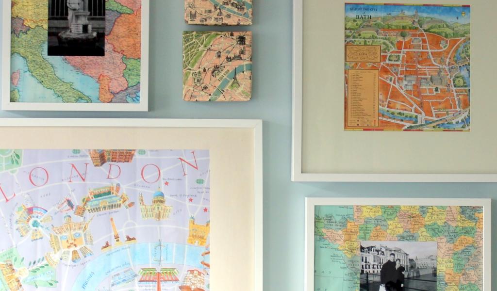 Picture of: Decorating With Maps Diy Art Yummymummyclub Ca