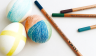 Easter egg decoration - Coloured pencils