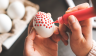 Easter egg decoration - Puffy paints