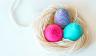 Easter egg decoration - Yarn