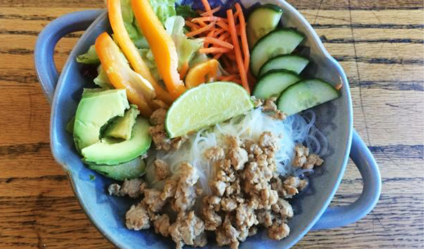 15 Minute Spring Roll Bowls are a quick, kid-friendly, and HEALTHY deconstructed version of your favourite dim sum that the whole family can enjoy for dinner!  | Freezer Meal