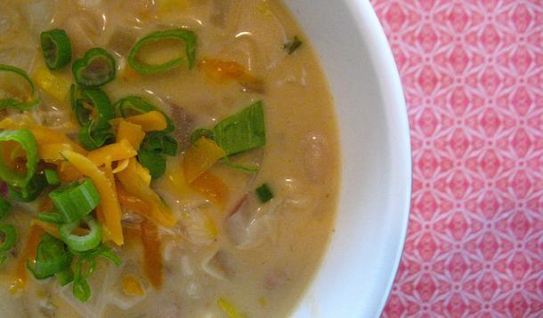 Chicken and Corn Cheddar Chowder Recipe
