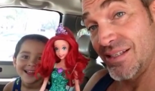 Dad lets son choose Ariel doll for birthday