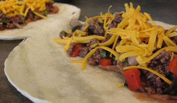 Beef and Bean Burritos Recipe