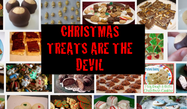 christmas, treats, baking, christmas baking, unhealthy, devil, comedy, talking food, sugar, chocolate, diet, health