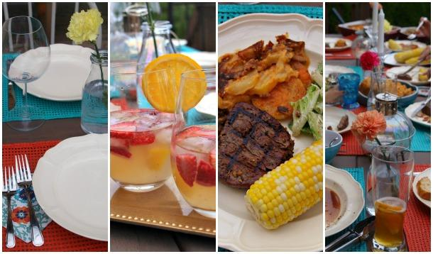 6 Easy Tips for a No Stress, Sparkling Summer Dinner Party
