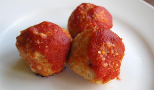 My Chicken Parmesan Meatballs