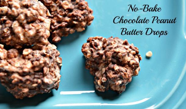 chocolate peanut butter drops
