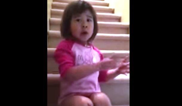 little girl asks divorced parents to be friends