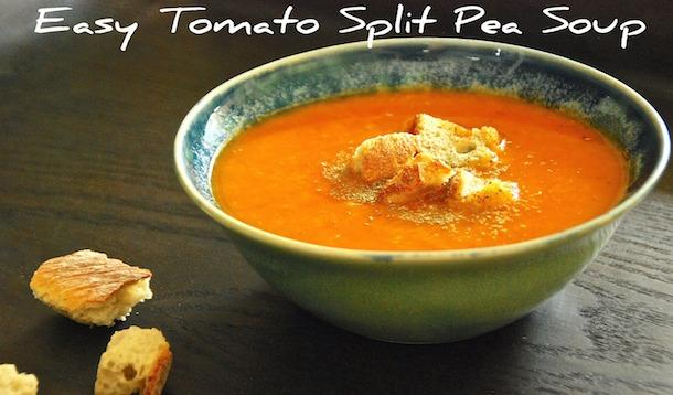 Easy Tomato Split Pea Soup