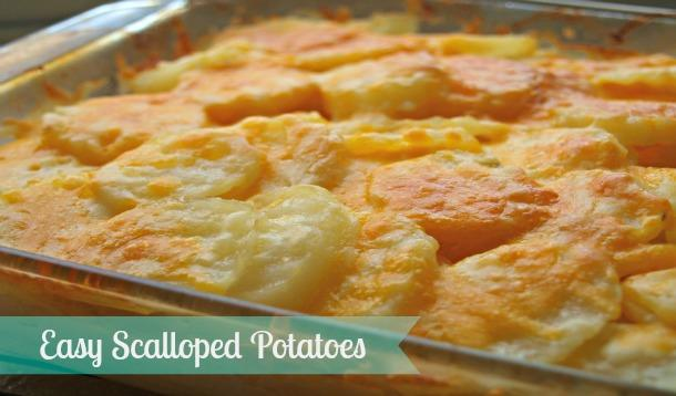 Easy Scalloped Potatoes Recipe :: YummyMummyClub.ca