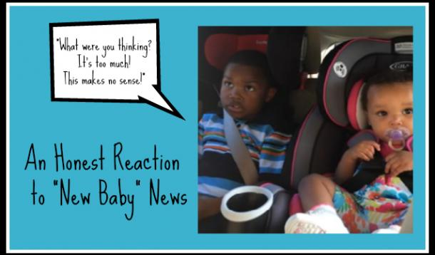 little boy not happy about sibling news