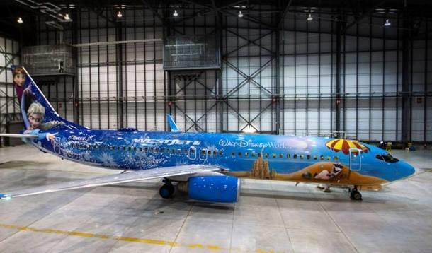 west jet makes frozen plane