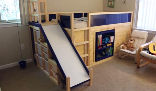 IKEA hack toddler bed