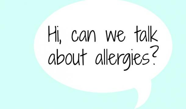 The more we talk about allergies, the more other people understand them.