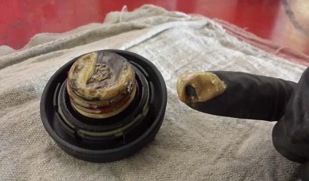 Milky Engine Oil Cap