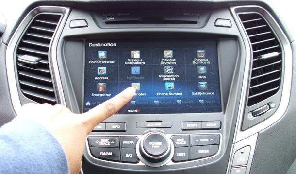 Car navigation panel