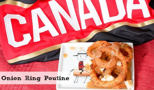 Easy Homemade Canadian Onion Ring Poutine Recipe :: YummyMummyClub.ca