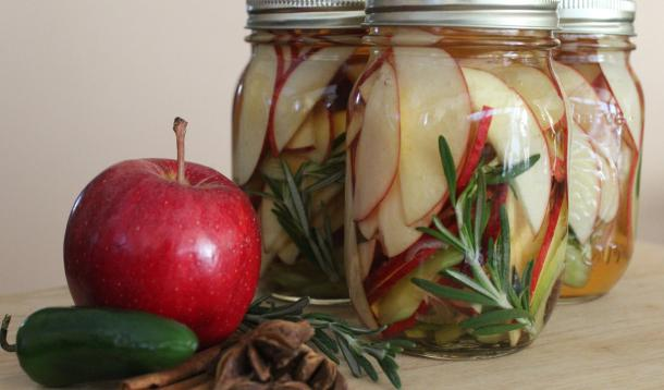 Pickled apples are a delicious and versatile treat