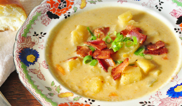 Potato, Cheddar and Guinness Soup