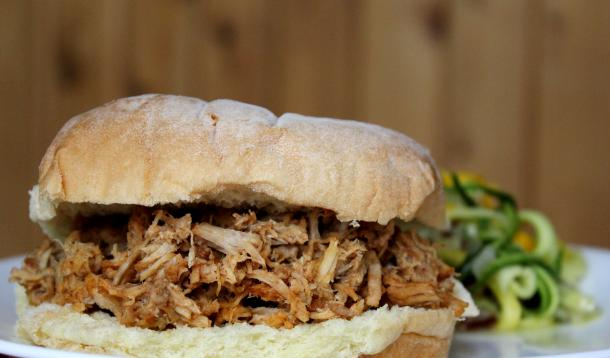 Using a pressure cooker produces tender, delicious pulled pork in just one hour