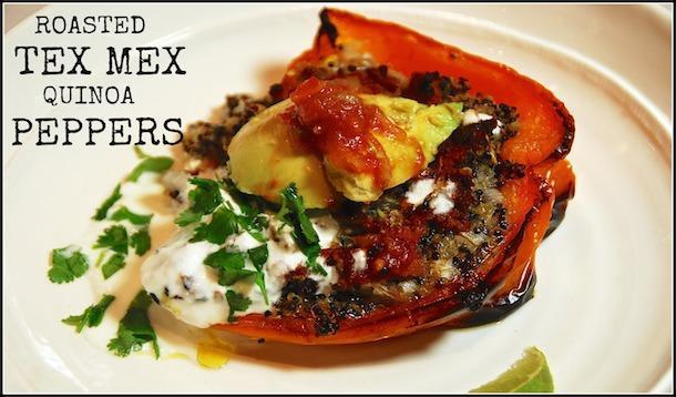 TEX MEX & Quinoa Stuffed Roasted Peppers