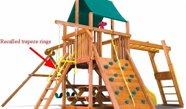 childrens playset recall