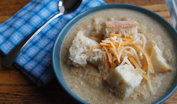 Healthy Roasted Cauliflower Soup Recipe