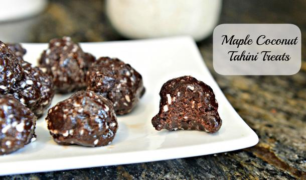 maple coconut chocolate tahini treats