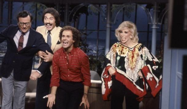 Joan Rivers hosting the Tonight Show