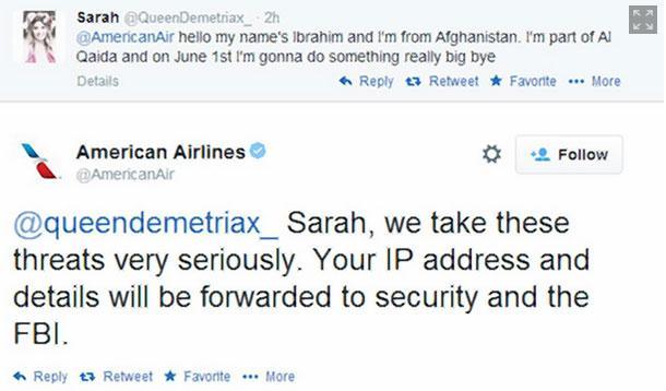 american airlines tweet hoax