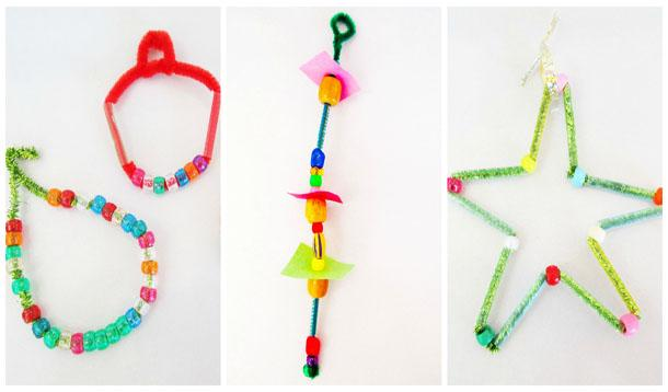 Three easy holiday ornaments for kids