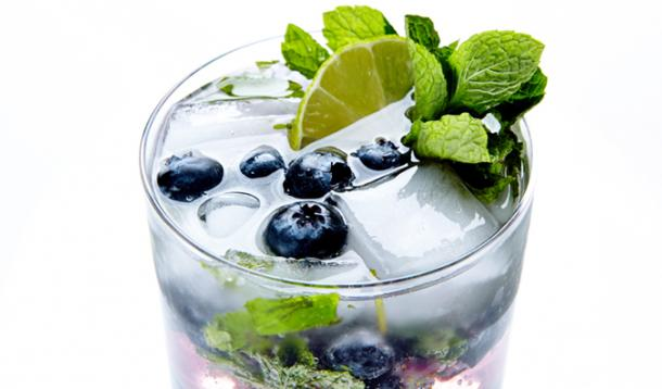 Mix up your mojito and add a dash of blueberry vodka for a summer drink that's refreshing and sweet.