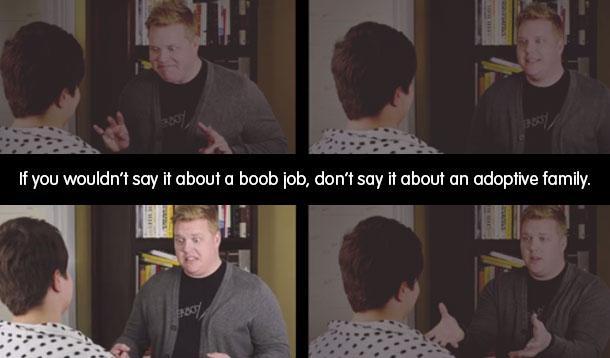boob job is like adoptive family