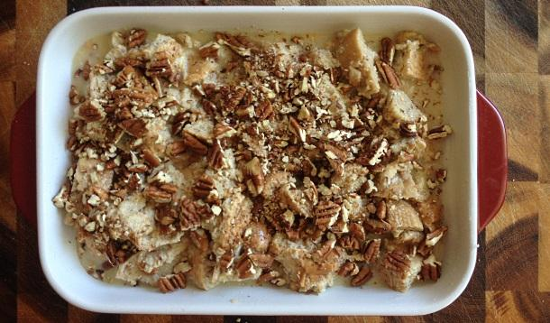 Lactose-Intolerant friends rejoice! This dairy-free dessert bread pudding tastes like it's made with cream.   YMCFood   YummyMummyClub.ca