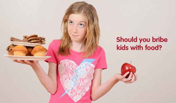 bribing kids with food