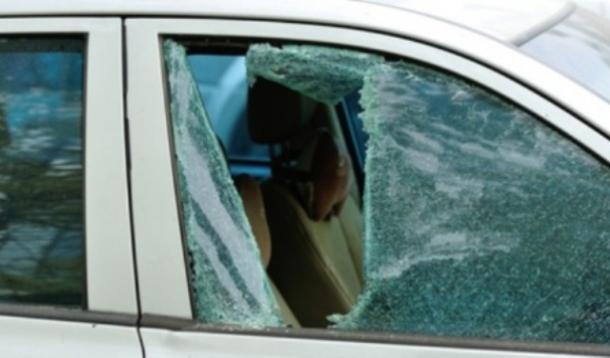 Broken Window in car to save child