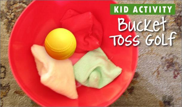 bucket toss golf game