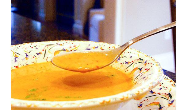horseradish cheddar soup