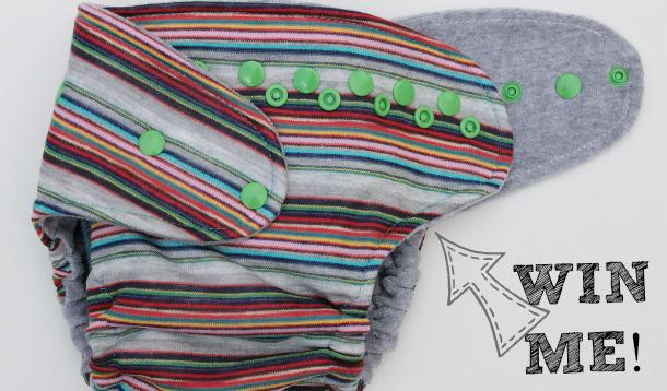 Stripe it Lucky Cloth Diaper Giveaway