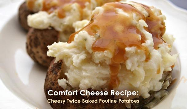 Cheesy Twice Baked Poutine Potatoes Recipe