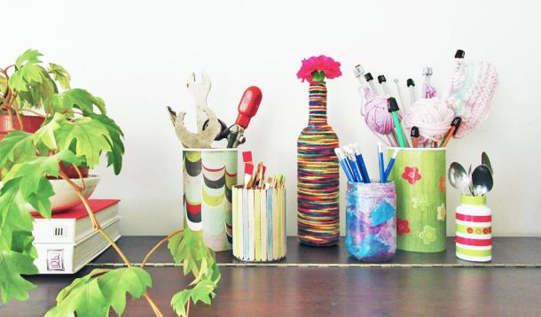 5 Cool Craft Containers Kids Can Make as Gifts -Kids can turn trash into treasures for teachers, grandparents, and friends with a little time and some love.   Upcycling   DIY   Kid-friendly   YummyMummyClub.ca