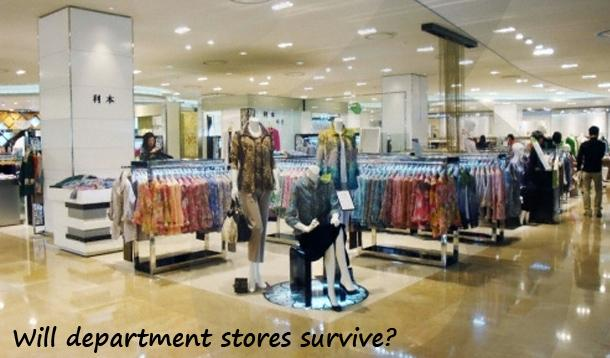 department stores are dying