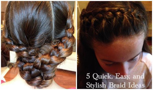 Quick And Easy 5 Minute Braids For Busy School Mornings